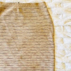 MICHAEL Michael Kors Knit Sparkle Stripe Skirt